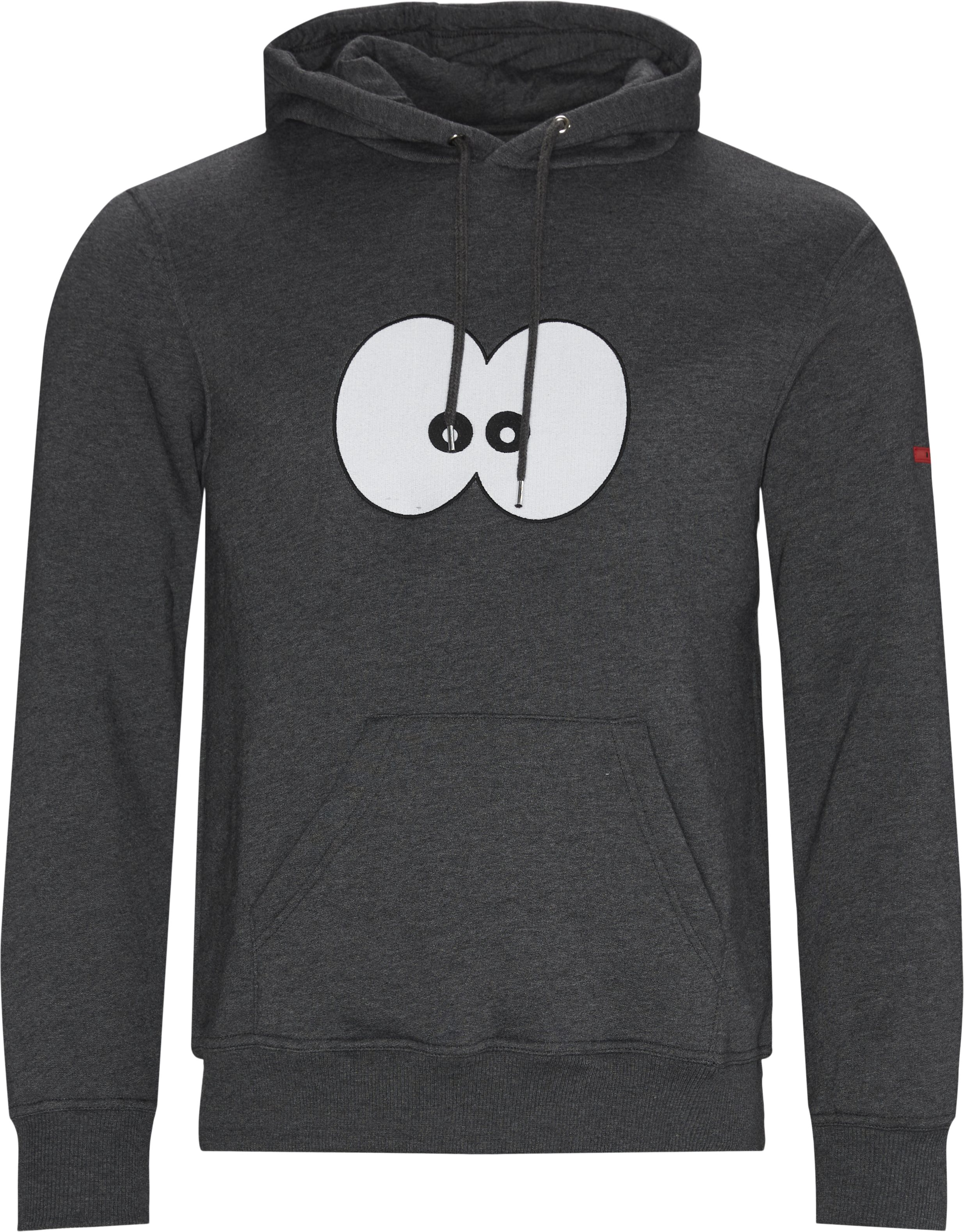 Eyes Hoodie - Sweatshirts - Regular - Grå
